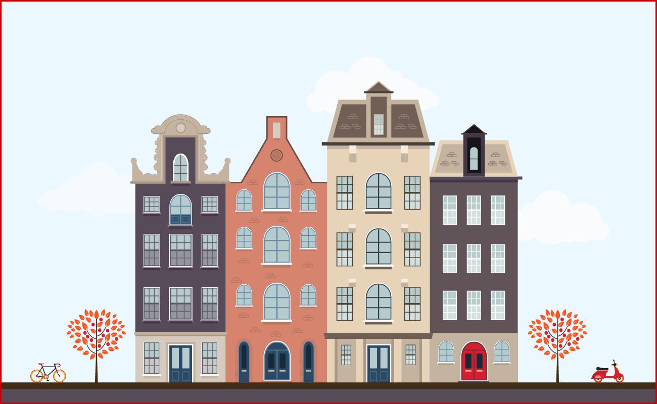 Urban European houses.